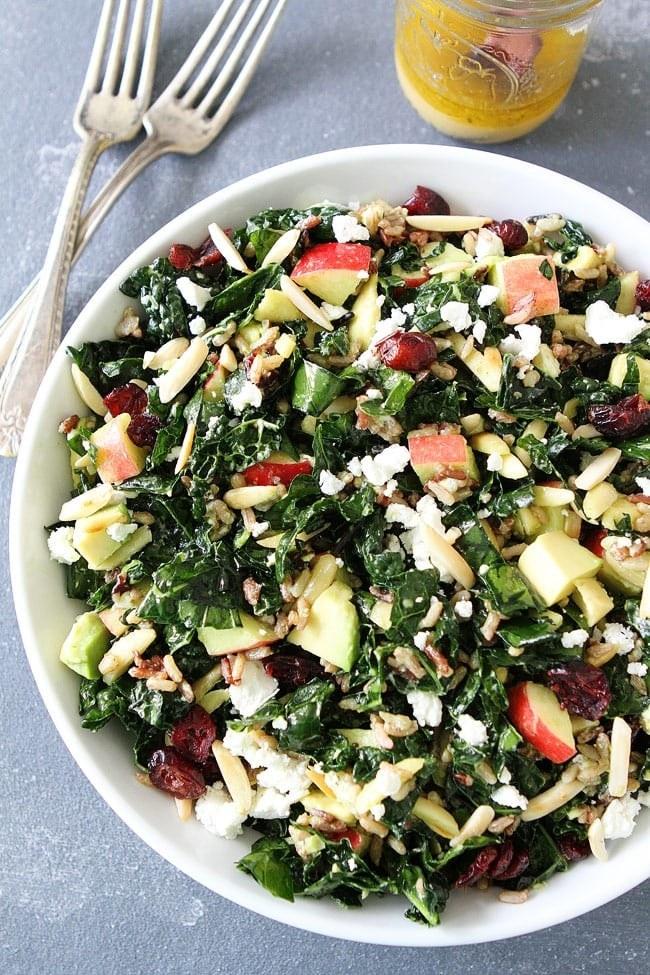 Kale and wild rice salad