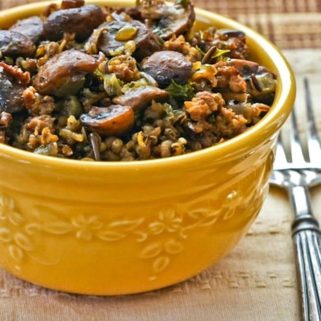 Wild Rice with Sausage and Mushrooms