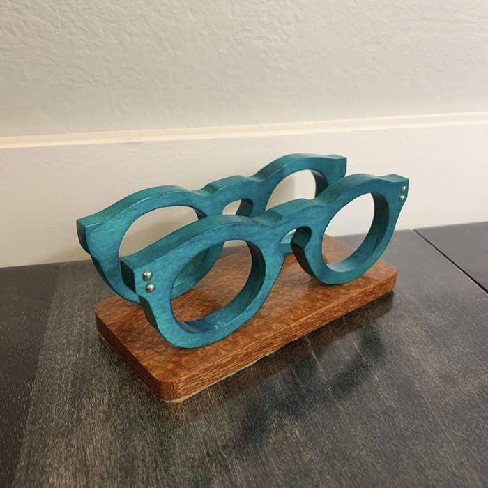 Glasses business card holder