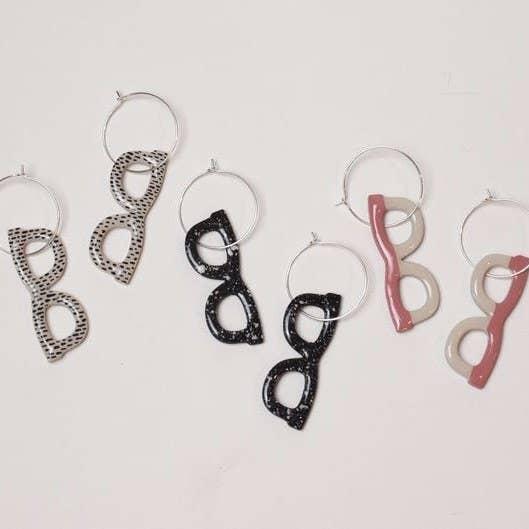 Glasses hoop earrings