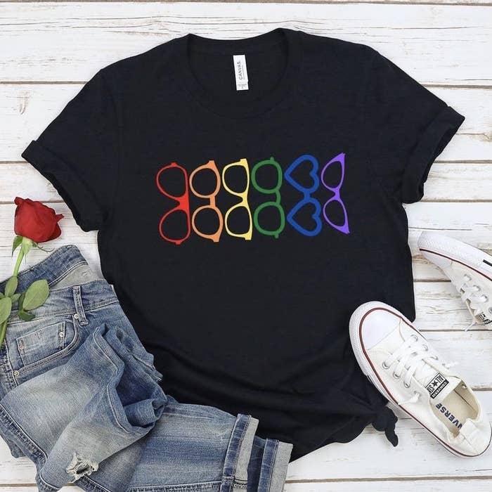 Pride eyeglasses shirt