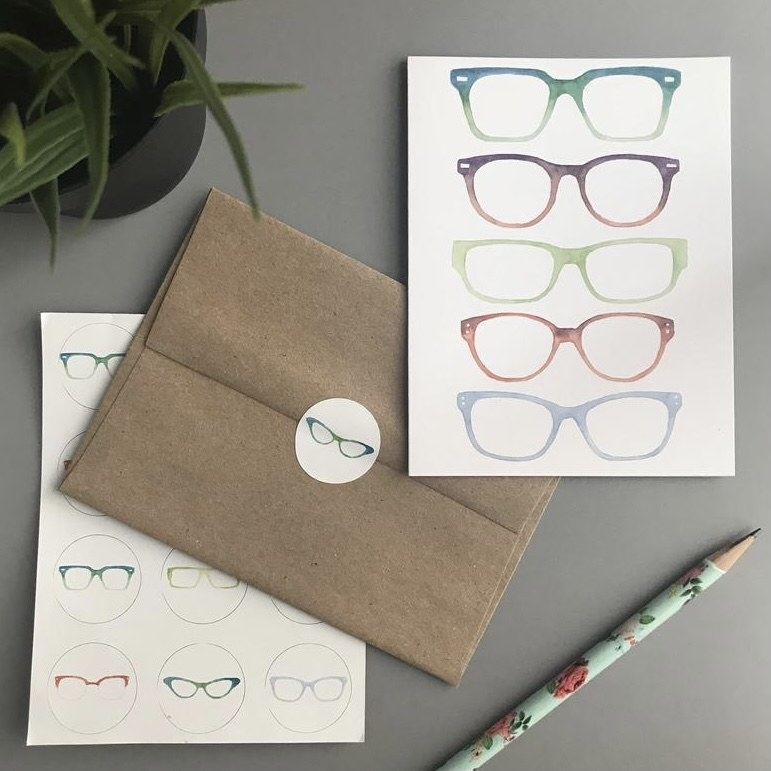 Glasses card set