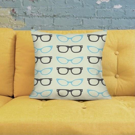 Retro eyeglasses pillow