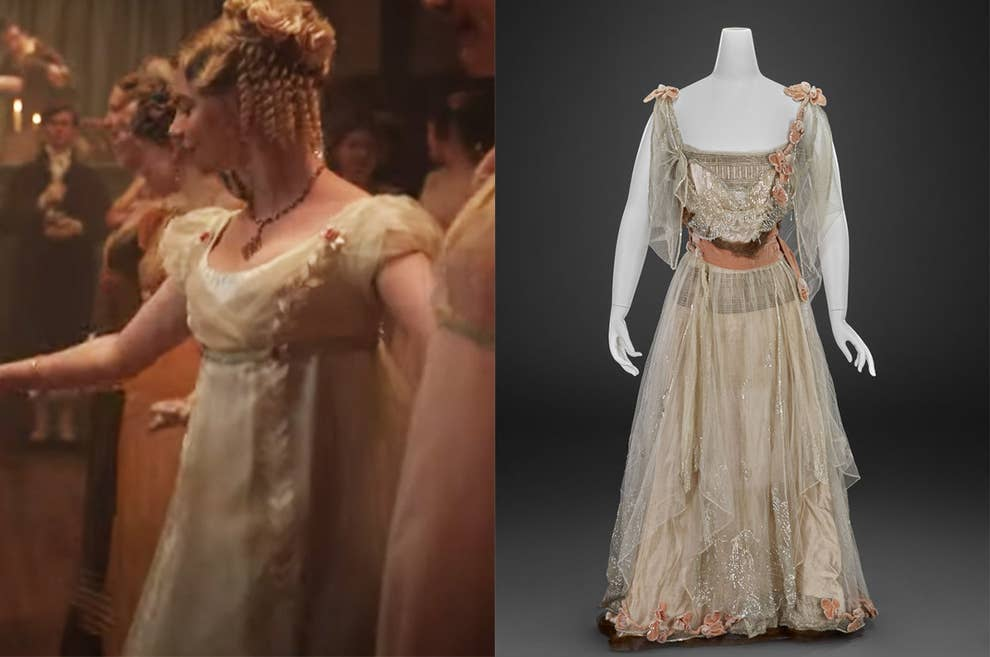 The dress from Emma as she danced with Mr. Knightley lacked the detail of the original dress.