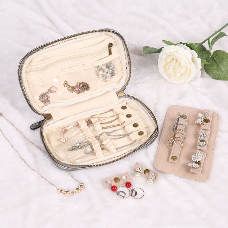 the jewelry case filled with jewelry