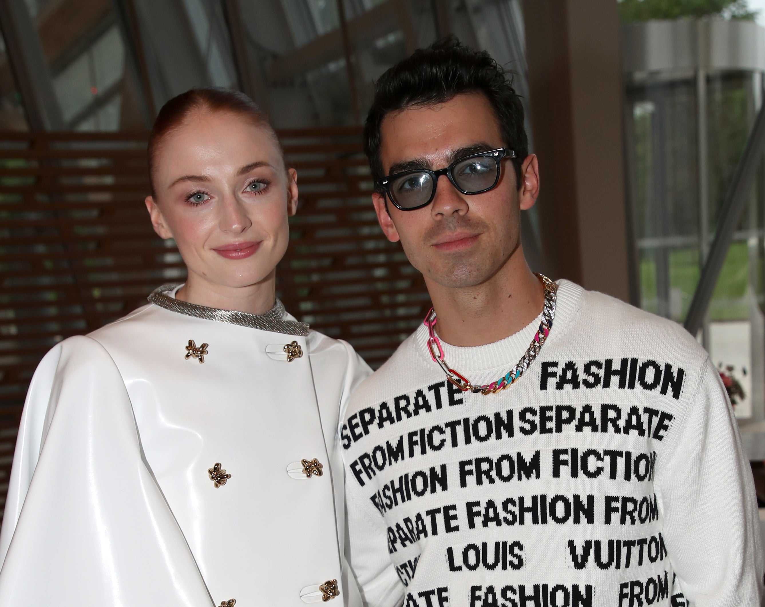 Sophie Turner and Joe Jonas appear at a Louis Vuitton fragrance event in Paris
