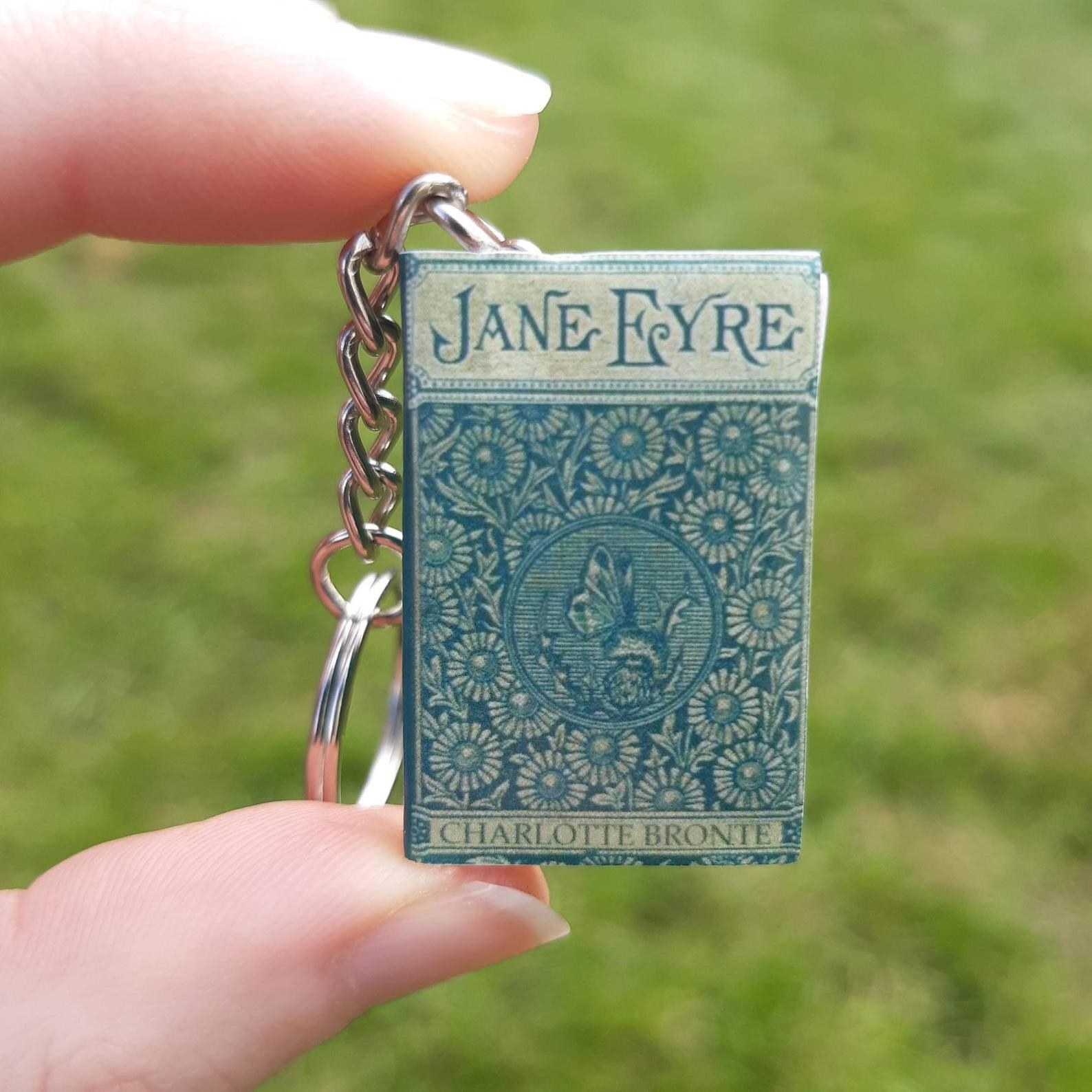 The tiny book keychain of Jane Eyre