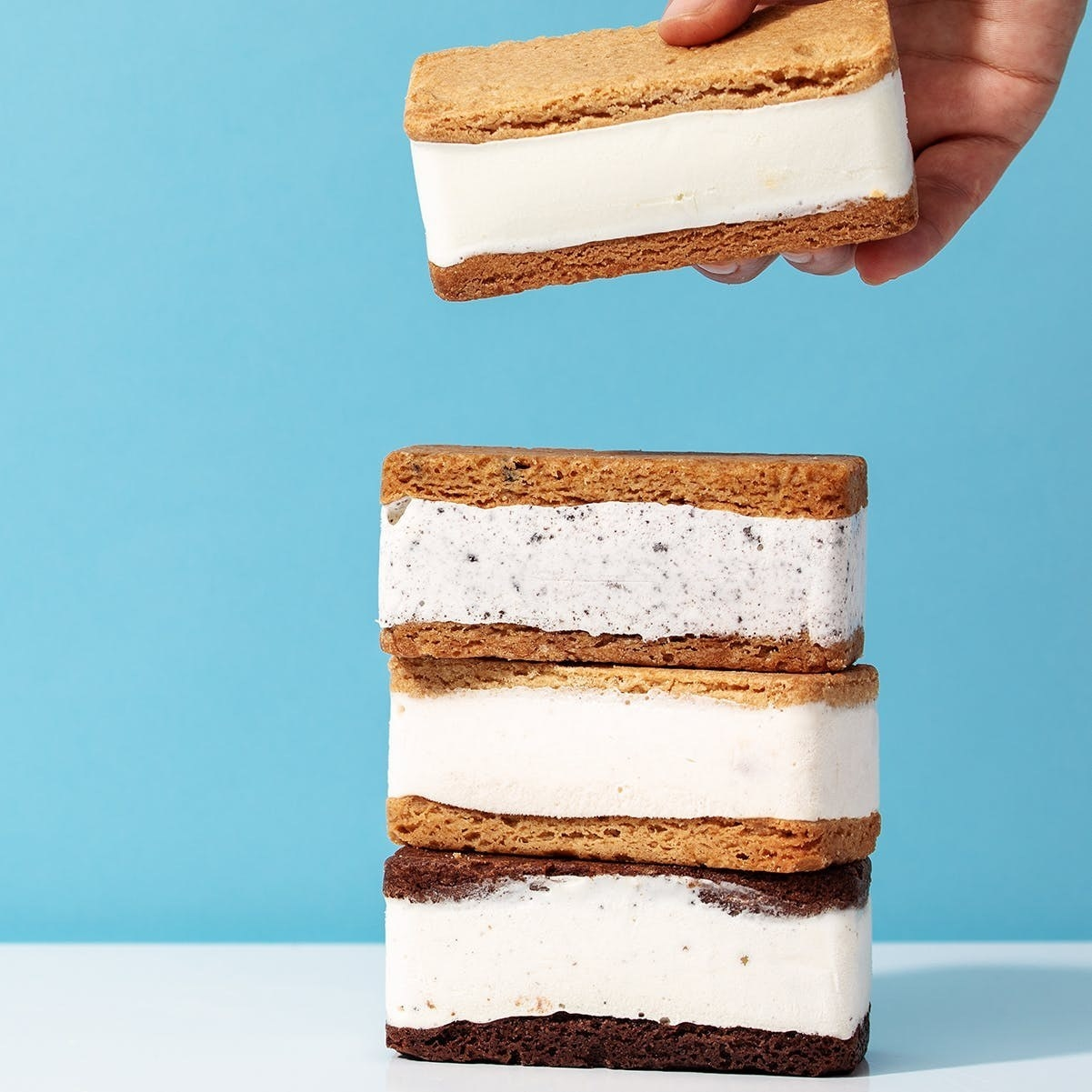 stack of ice cream sandwiches