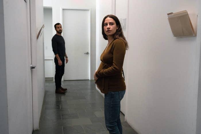 Justin Theroux and Ilana Glazer in Hulu's False Positive