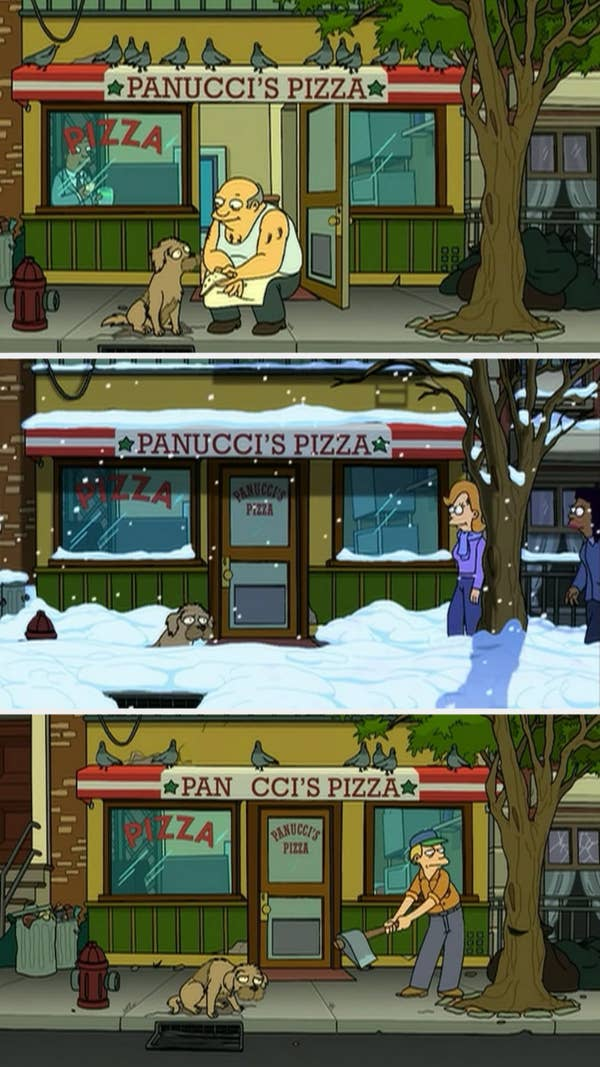 Seymour waits for years and through seasons for Fry's return