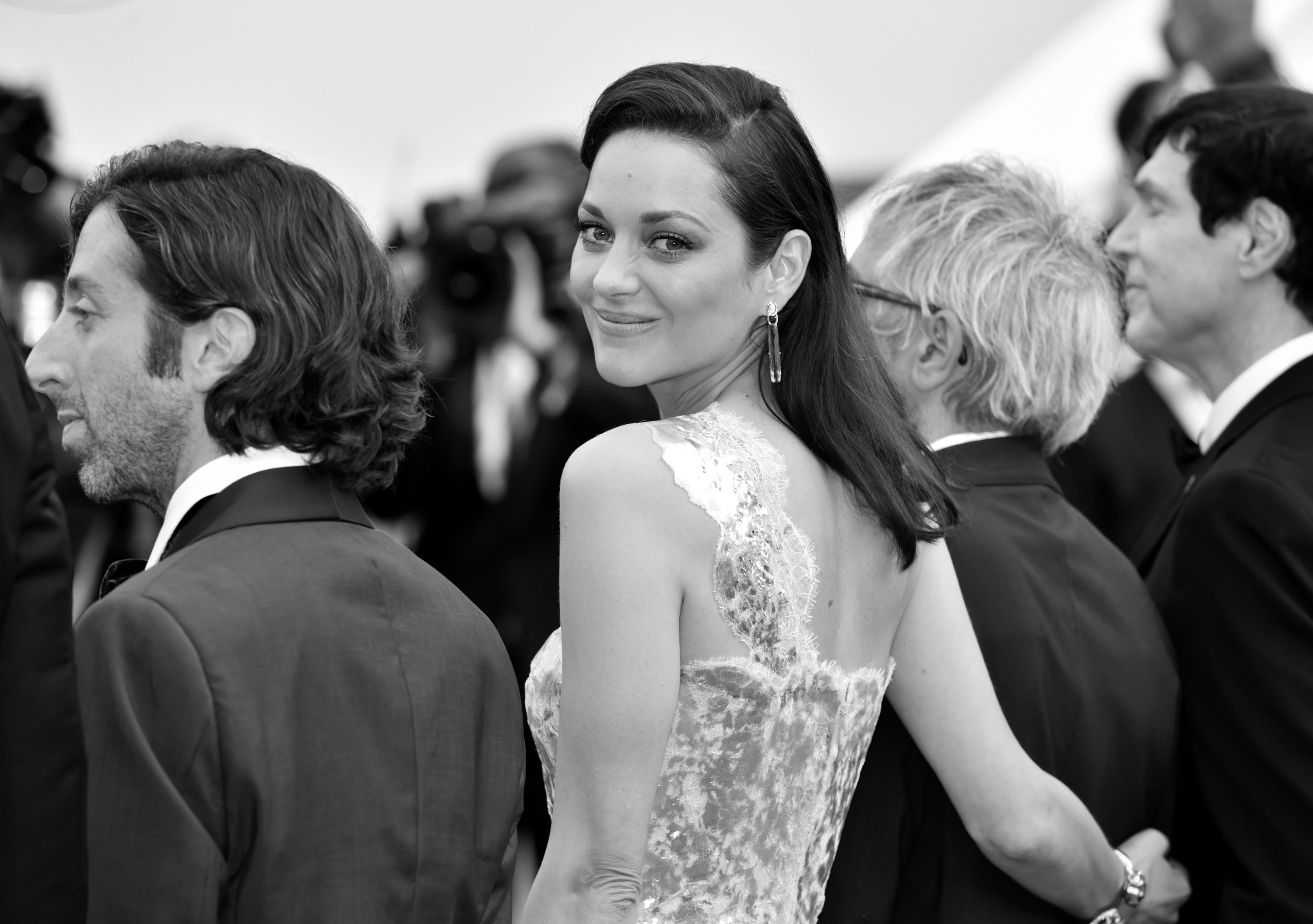 Marion Cotillard is pictured on the red carpet at the Cannes Film Festival