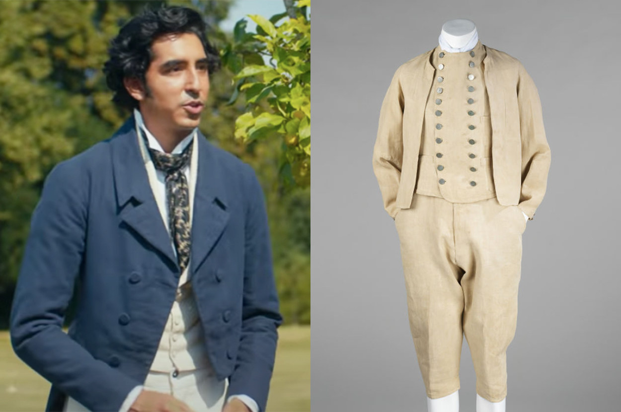 Dev Patel wore a blazer with buttons, but the real suit's coat doesn't have buttons