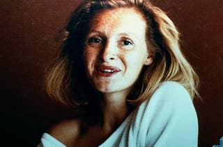 A portrait of Sophie Toscan du Plantier.