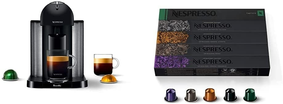 The espresso and coffee maker and the capsules