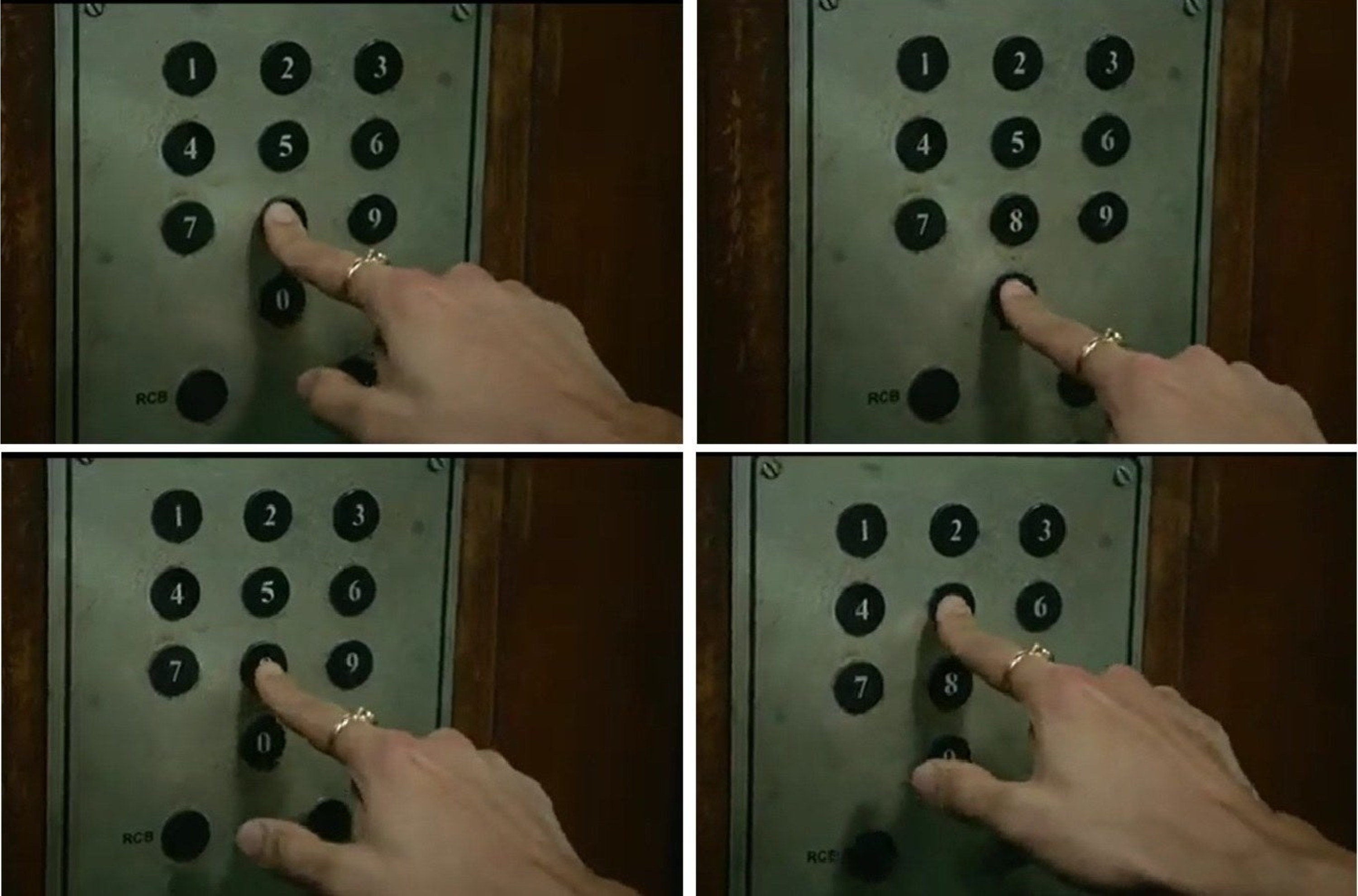 Images that show tiger shroff pressing the said numbers
