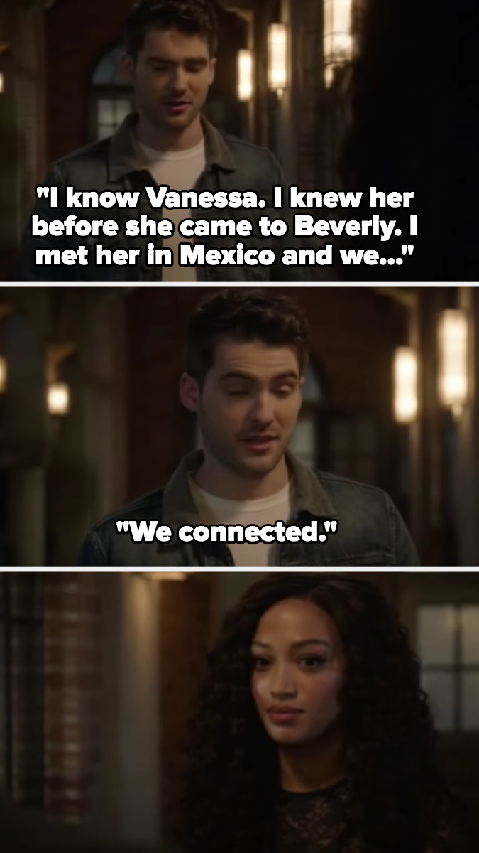 """Asher tells Olivia he """"connected"""" with Vanessa in Mexico over the summer"""
