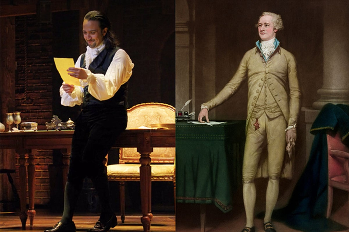 Alexander Hamilton's costume in Hamilton was a mix of different centuries and cut relatively loose.