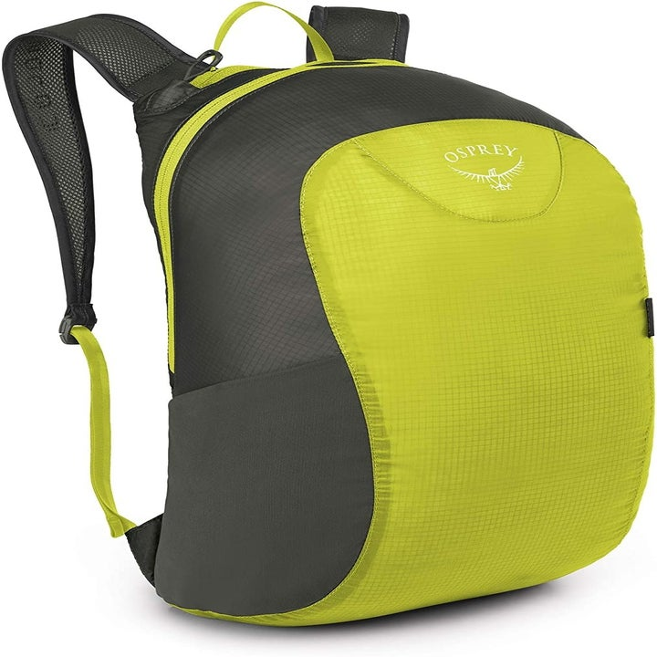The bag, in gray and green