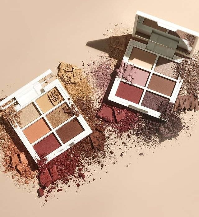 The eyeshadow palettes