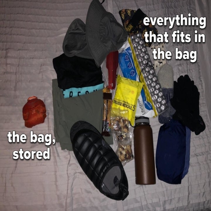 Everything that fits in the bag