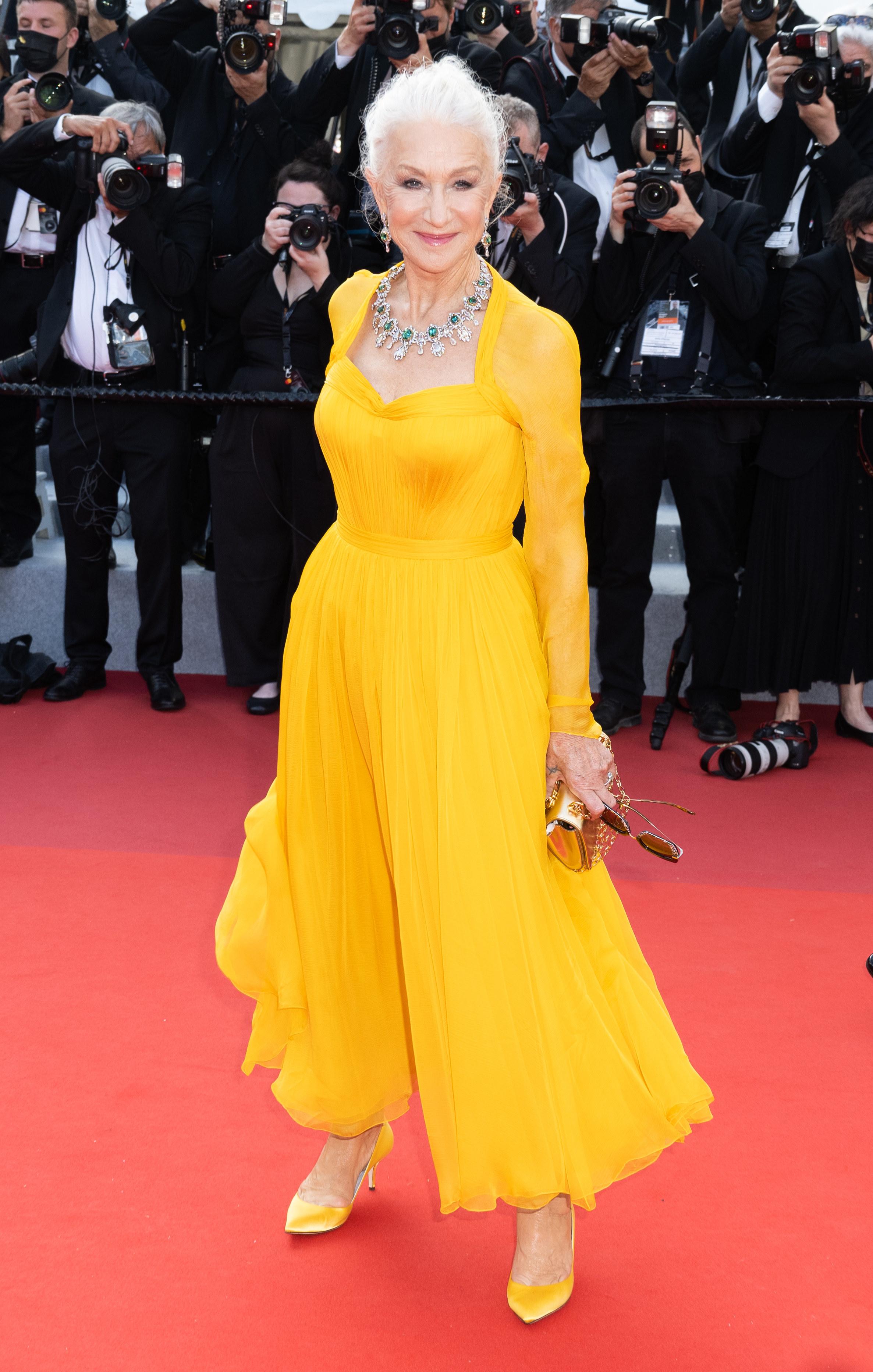 Helen Mirren at the Cannes Film Festival