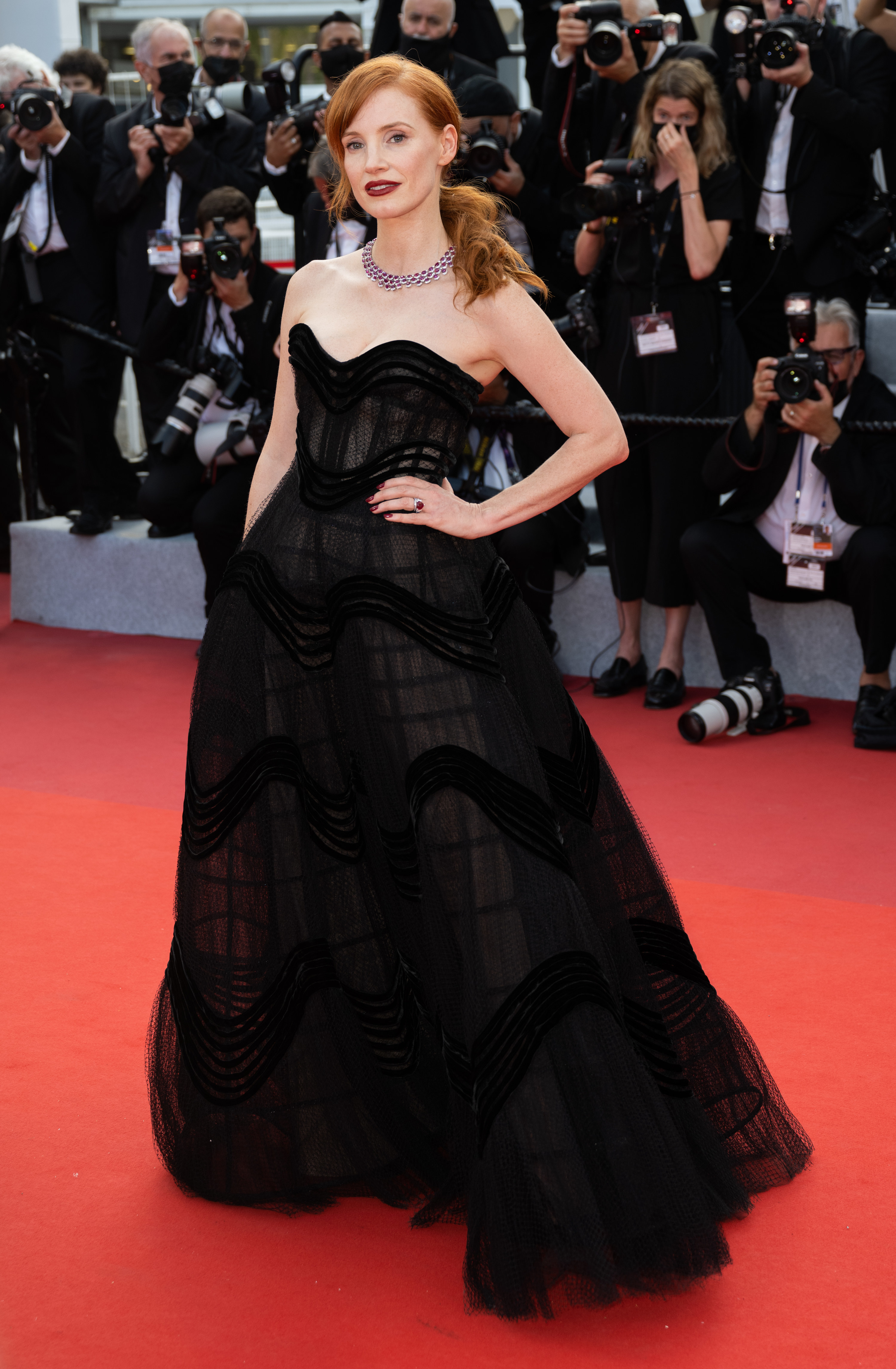 Jessica Chastain on the red carpet at the Cannes Film Festival