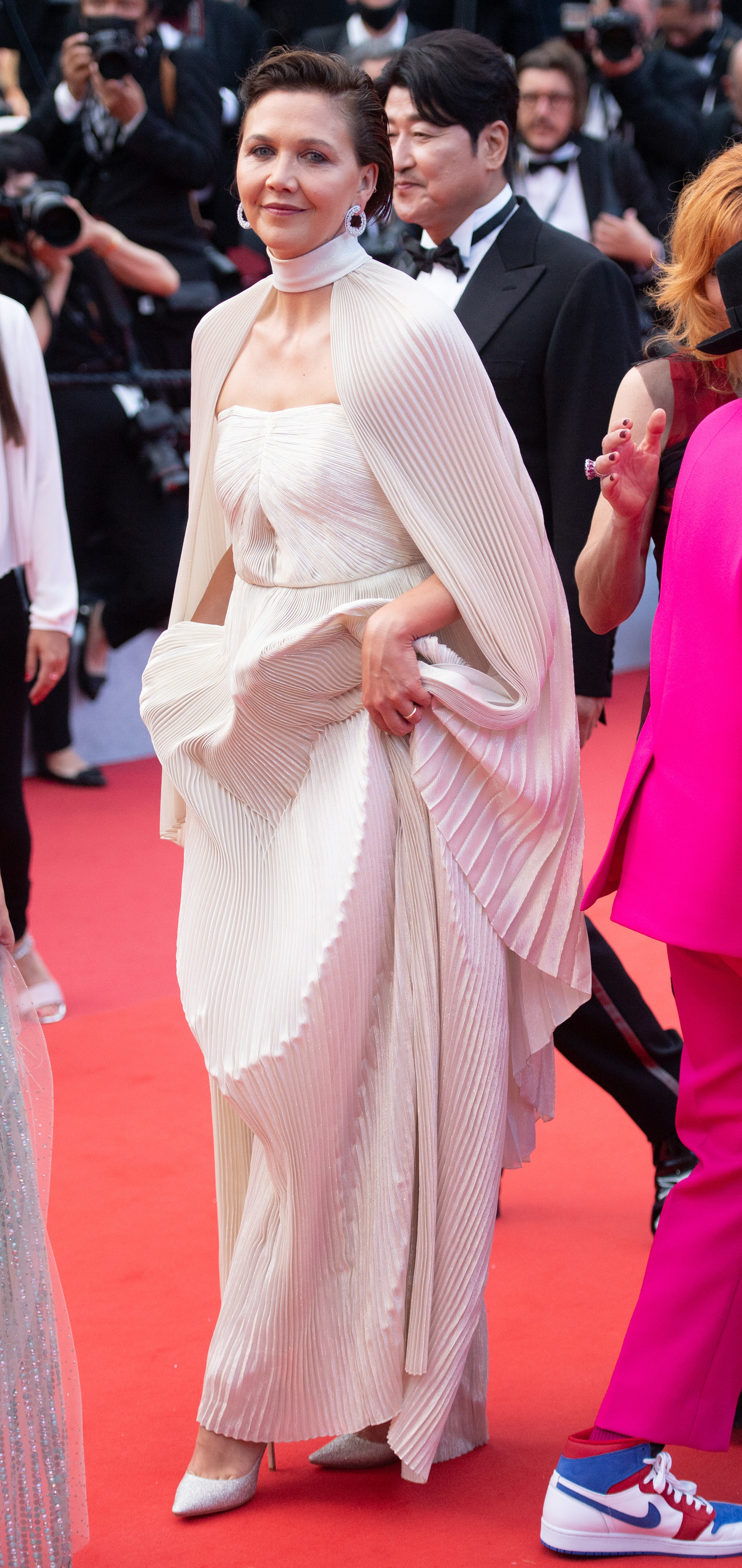 Maggie Gyllenhaal on the red carpet at the Cannes Film Festival
