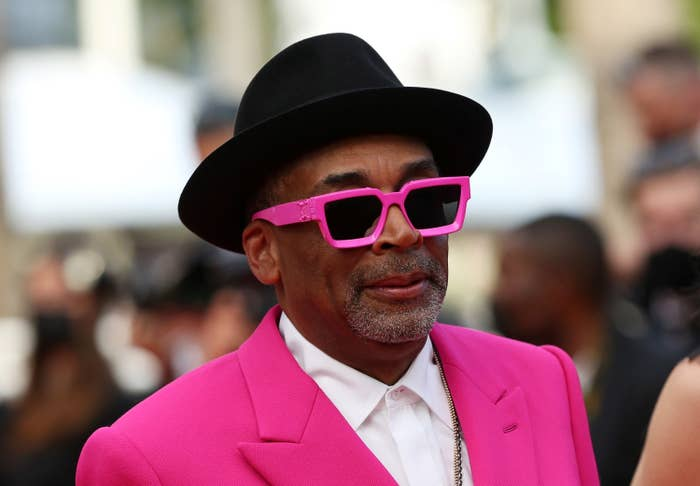 Spike Lee is photographed at the Cannes Film Festival red carpet