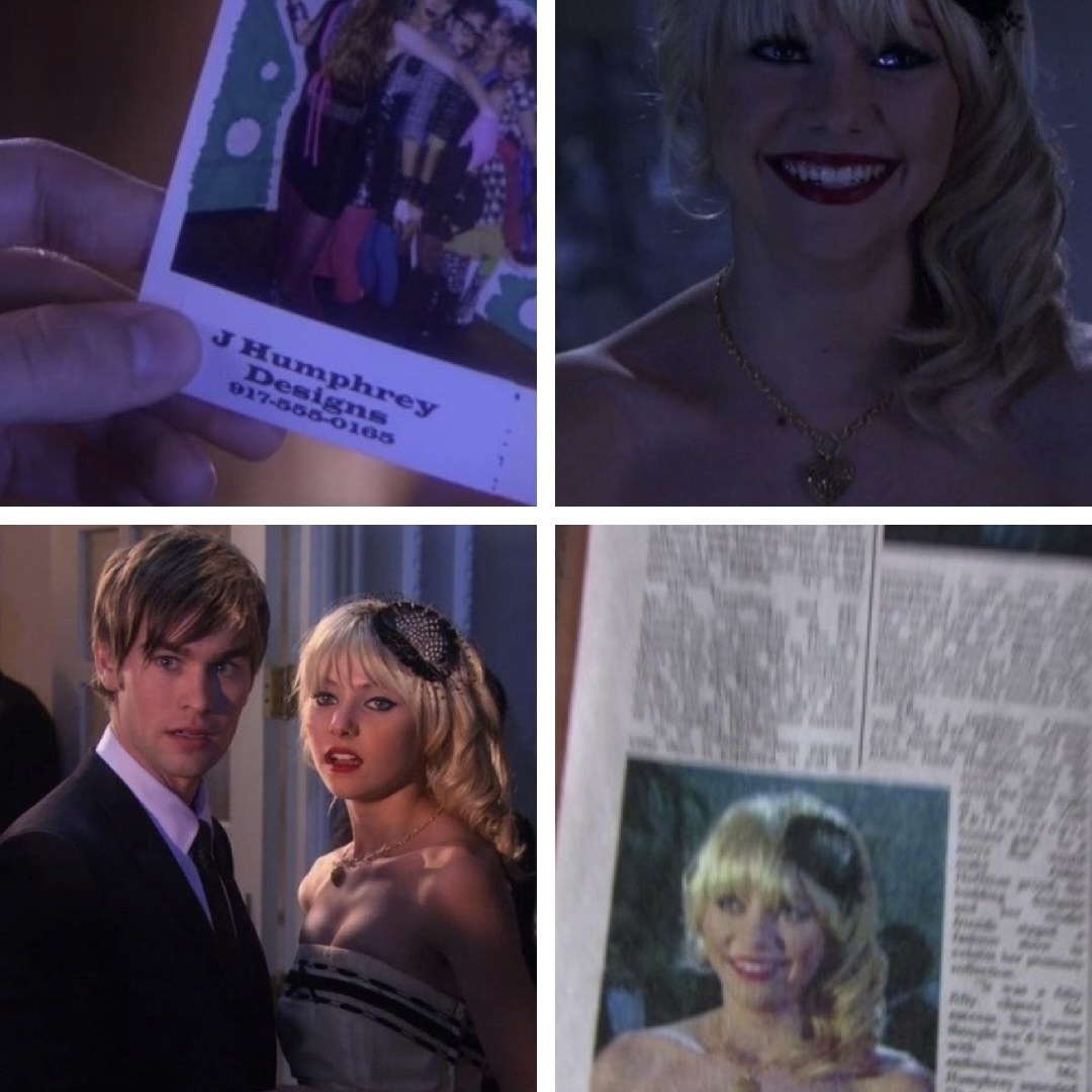 jenny humphrey on the cover of a newspaper