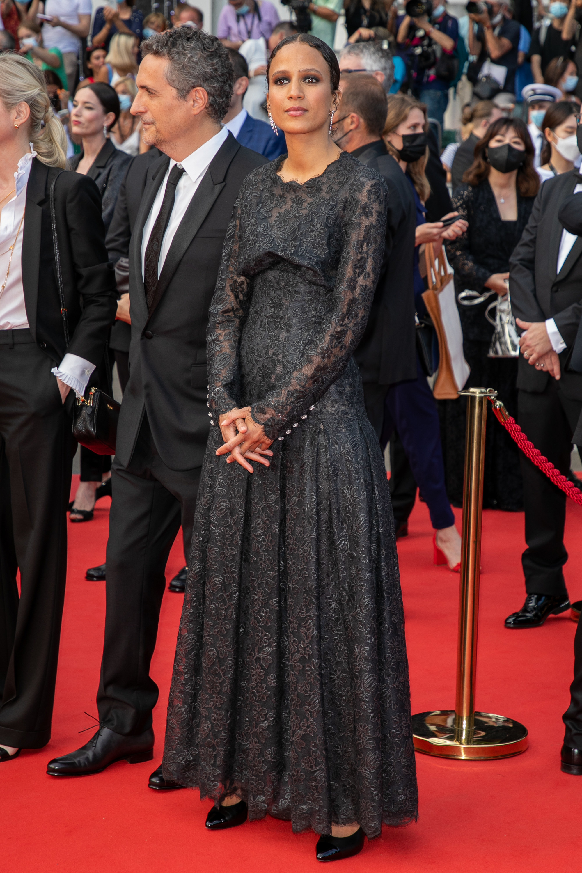 Mati Diop on the red carpet at the Cannes Film Festival