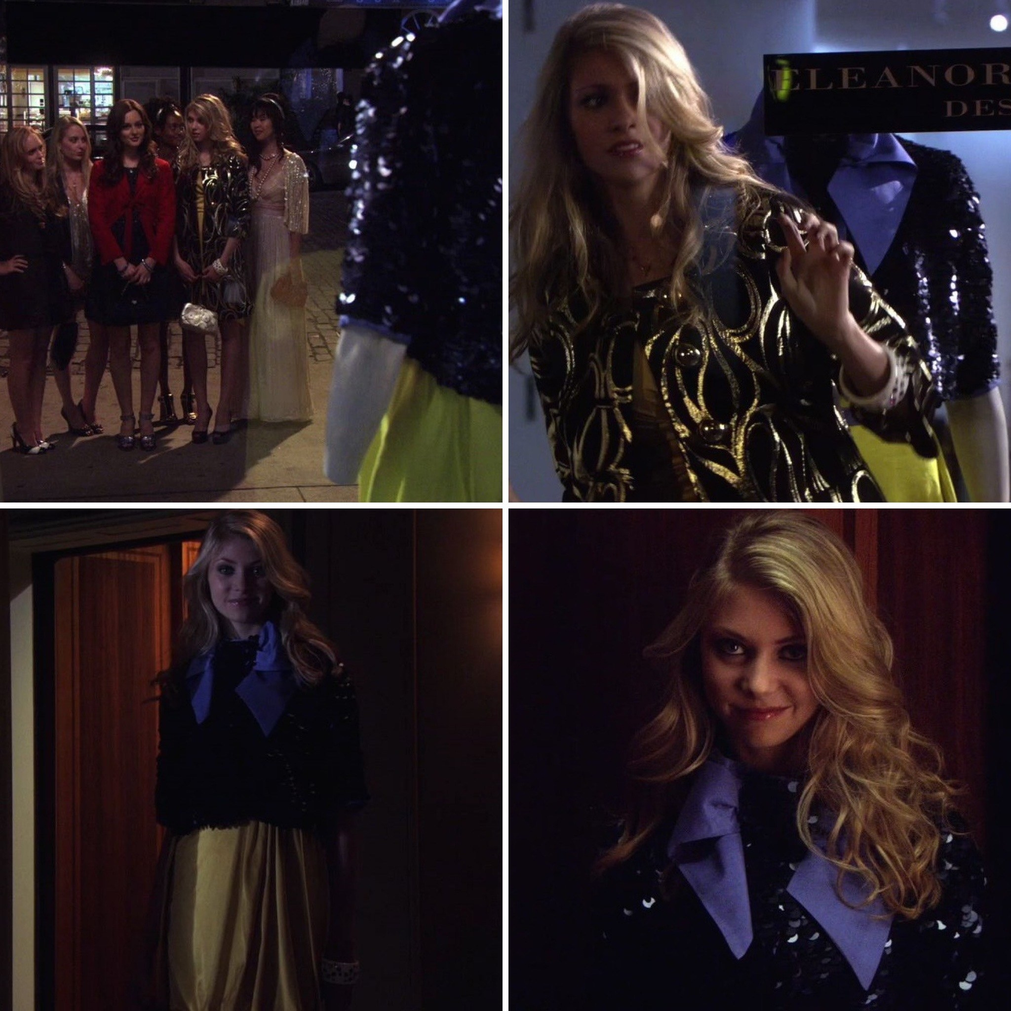 """jenny humphrey walks into a room with blair and her friends to say """"surprise bitch"""""""