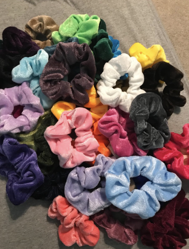 reviewer picture of 60 piece scrunchie set