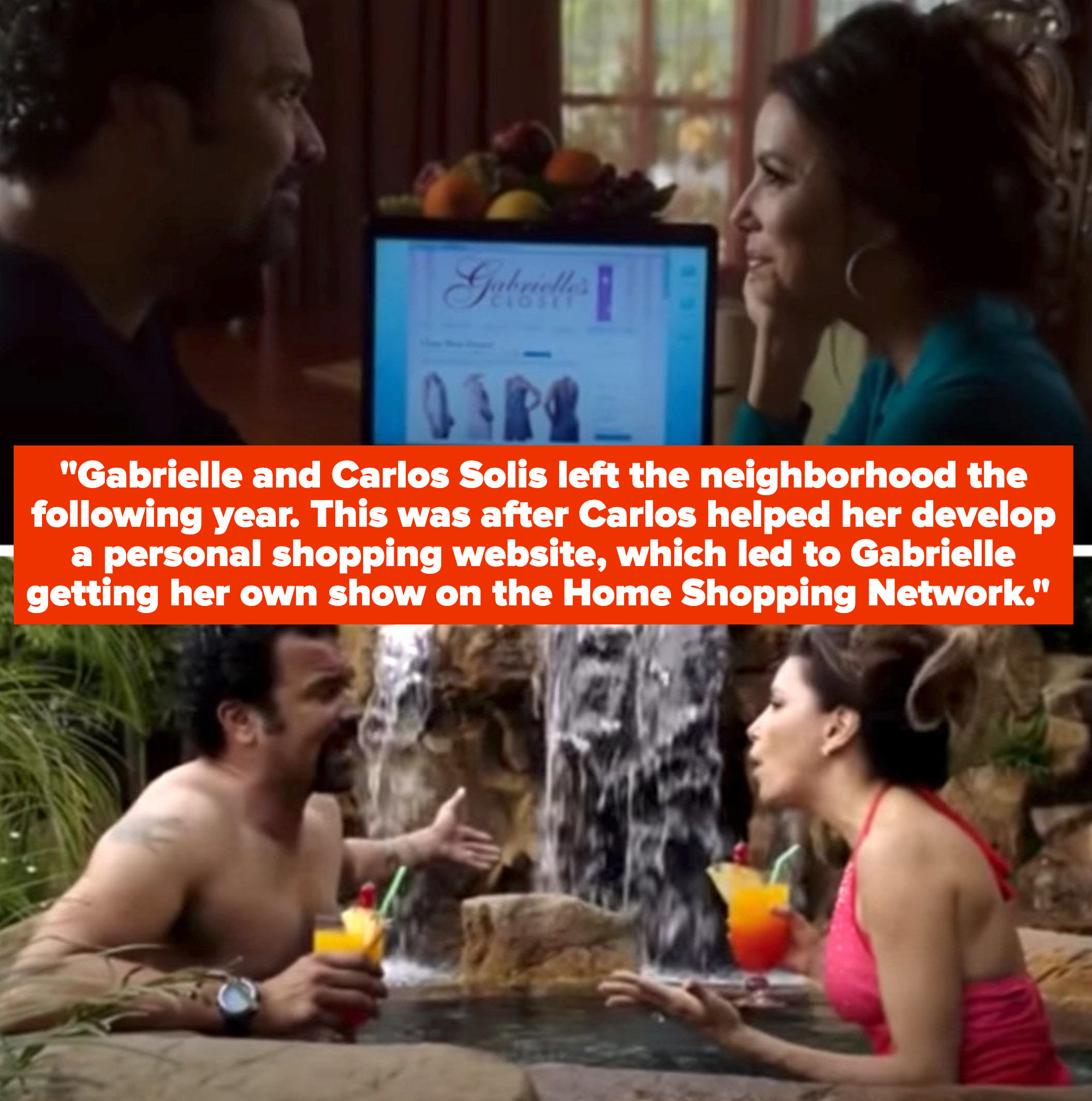 """Gabrielle and Carlos in the """"Desperate Housewives"""" series finale in their new California home"""
