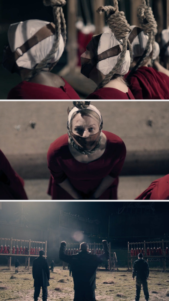 The handmaids on the gallows