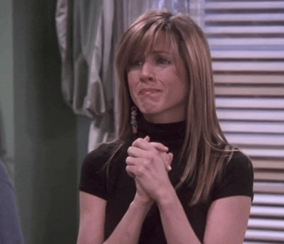 Emotional Rachel Green