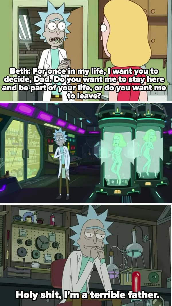 Rick realizes he doesn't know which of his daughters is a clone