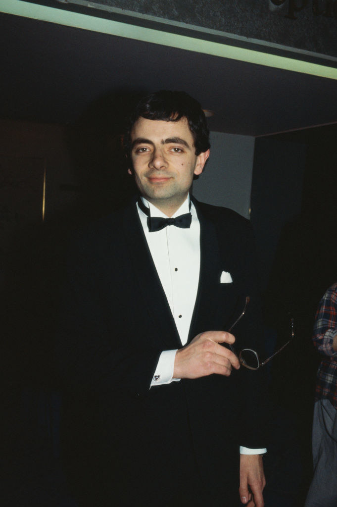 In a suit at the BAFTAs