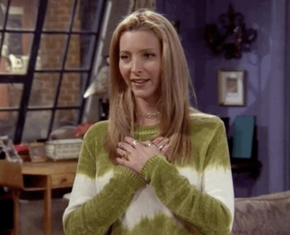 Relieved Phoebe Buffay