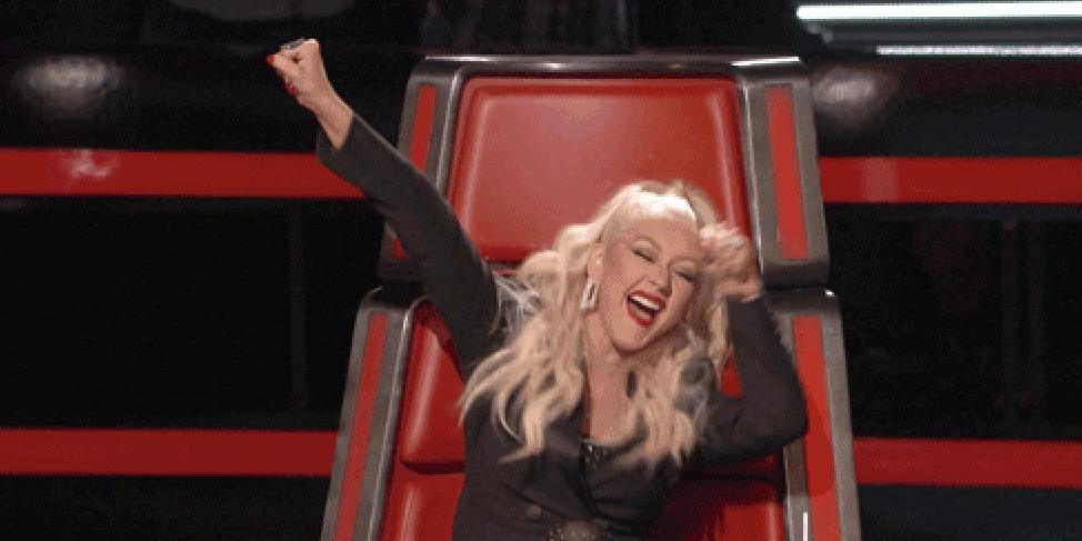 Happy Christina Aguilera