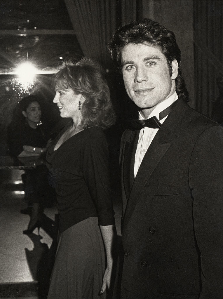Black and white pic taken in 1984 with Marilu Henner; he's wearing a bow tie