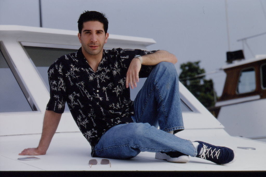 Looking relaxed and sitting on a boat