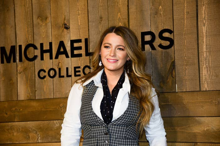 Blake Lively is photographed at a Michael Kors fashion show
