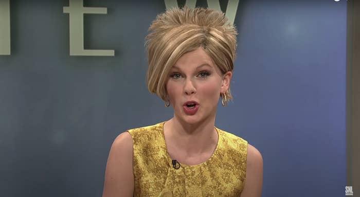 Taylor Swift dressed as a Karen on SNL