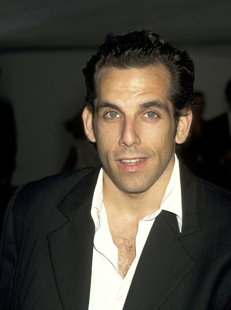 Showing some chest hair in 1995