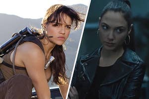 Letty and Gisele in the fast and furious movies