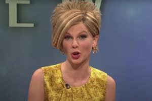Taylor Swift dressed as a Karen