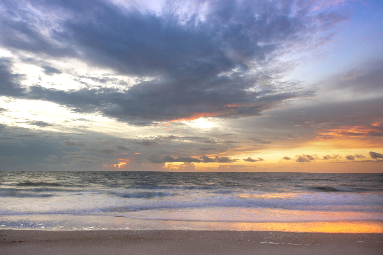 Photo of beach sunset on Amelia Island
