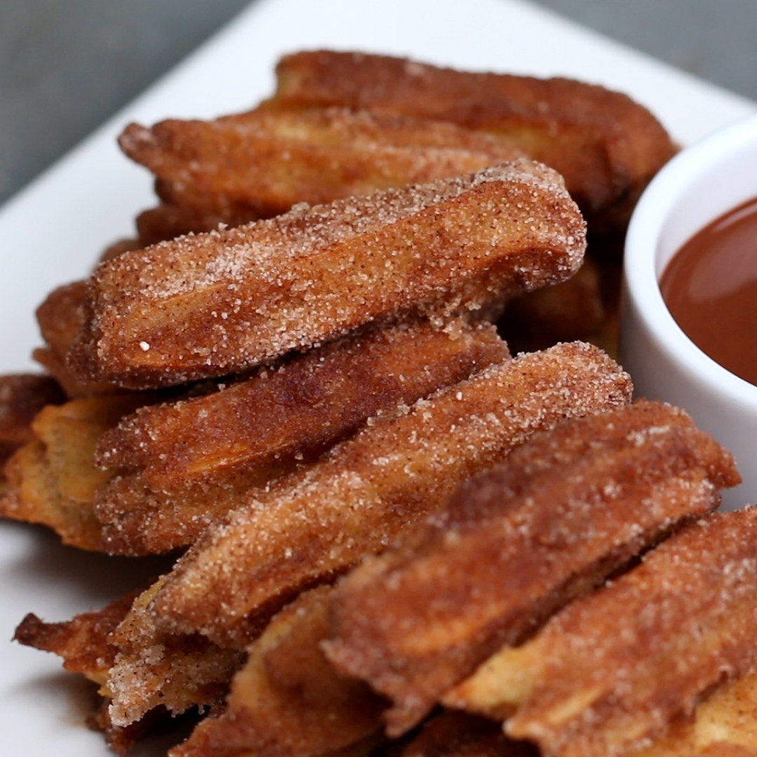 Baked churro bites