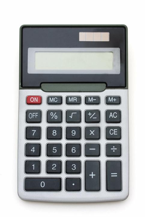 A photograph of a calculator