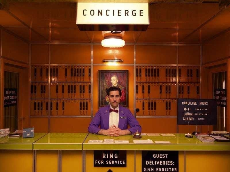 """The concierge in """"Grand Budapest Hotel"""""""